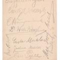 1899 Menu signature